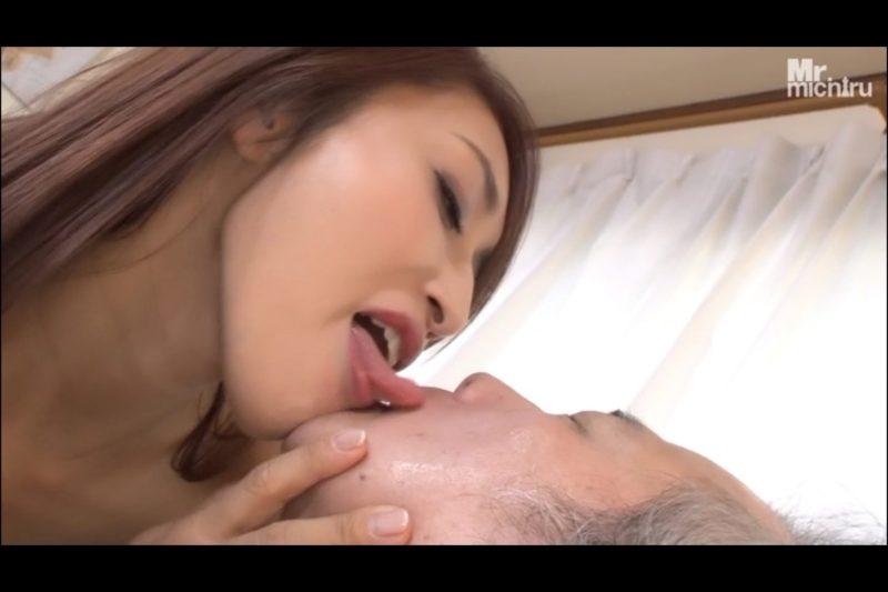 M男の顔面を舐め回し唾液まみれにする小早川怜子