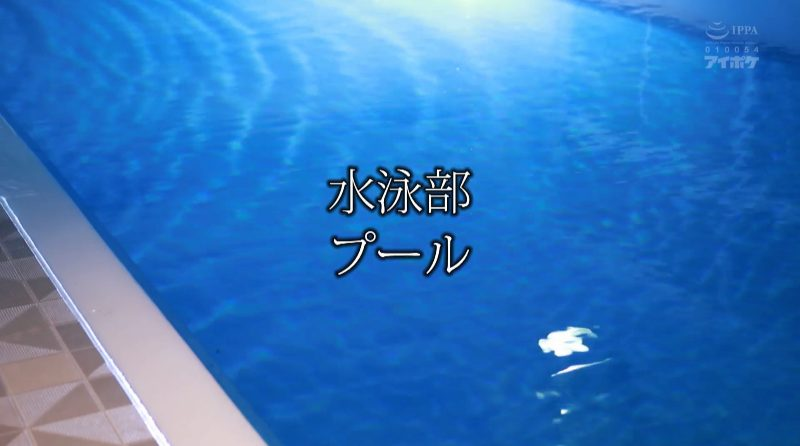 タイトル「水泳部 プール」